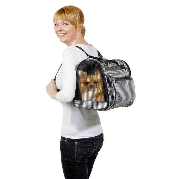 sac de transport dos pour chien ou chat pepita 42 x 24 x 30cm. Black Bedroom Furniture Sets. Home Design Ideas