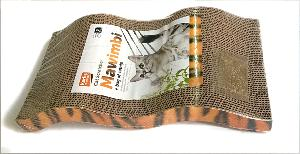 Griffoir carton Mawimbi  en forme de vague 46 x12 x 5 cm pour chat