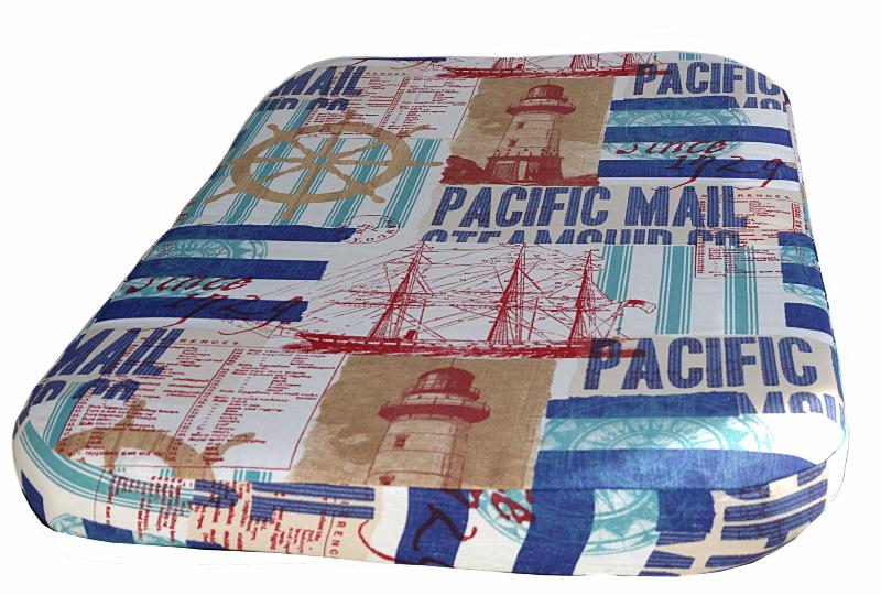 coussin matelas d houssable paisseur 9 cm chien et chat motif mer marin bateaux. Black Bedroom Furniture Sets. Home Design Ideas