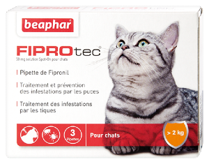 Beaphar FIPROTEC 3 pipettes anti puces & tiques pour chat
