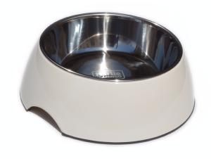 Gamelle inox 21 cm + support plastique 1400 ml 27 x  9 cm chien chat