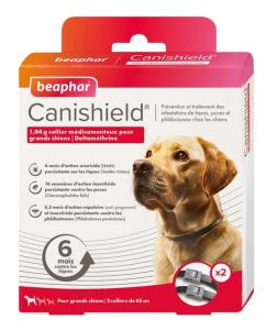 Collier antiparasitaire X2 grand chien Canishield Deltametrine 1,04 g