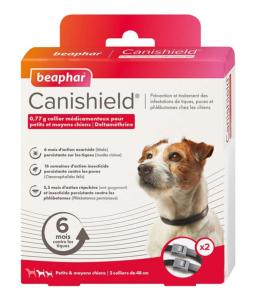 Collier antiparasitaire X2 chien Canishield Deltametrine 0,77 g