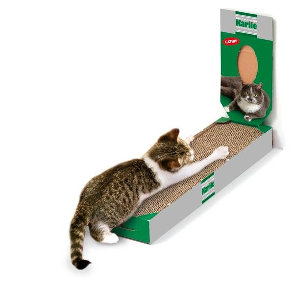 griffoir en carton pour chat taille xl 50 cm x 13 cm x 5 cm. Black Bedroom Furniture Sets. Home Design Ideas